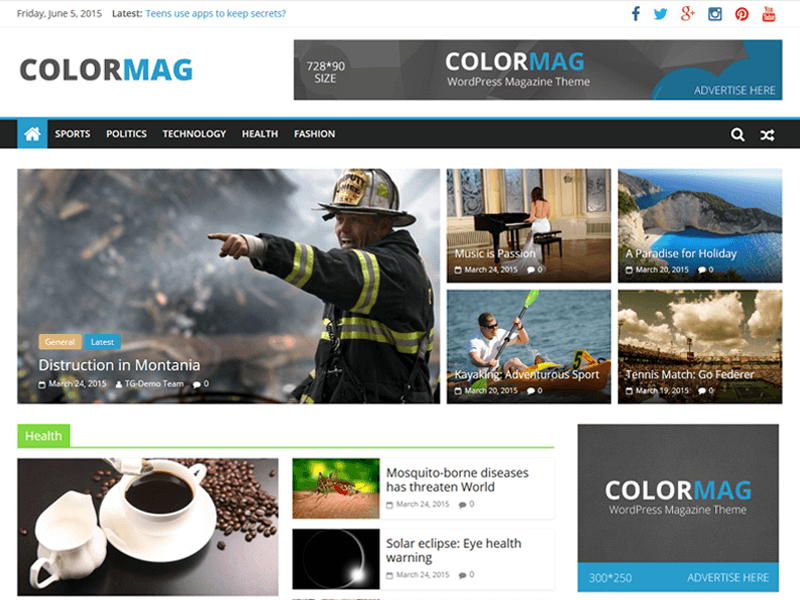 ColorMag theme image